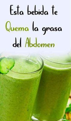 Esta bebida te quema la grasa del abdomen - Soy moda Smoothies, Juice, Favorite Recipes, Gym, Fruit, Drinks, Tips, Health Recipes, Healthy Dieting