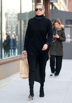 Yolanda Hadid Street Fashion - Out in New York 02/12/2018