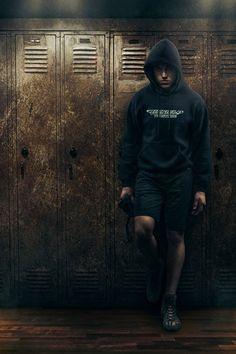 High School Senior Sports Session, Wrestling, Dramatic, Serious, Lockers, Dark, Photography, Photoshop, Composite  Joshua Hanna Photography Cross Lanes, WV