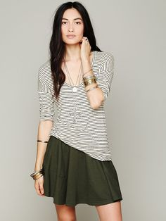 Free People Skater Baby Circle Skirt at Free People Clothing Boutique