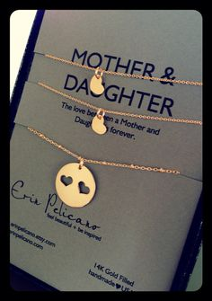Mother Two Daughter Necklace Set GOLD // Inspirational Jewelry // Simple Delicate