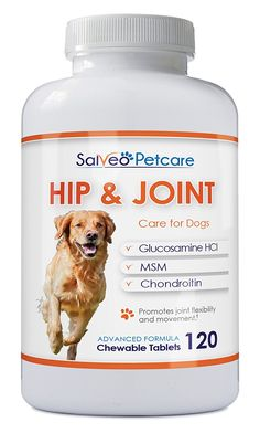 Glucosamine for Dogs 800mg Advanced Hip and Joint Supplement with MSM Chondroitin and Vitamins C and E - 120 Beef Flavoured Chewable Tablets - Arthritis Pain Relief and Mobility *** Additional details at the pin image, click it  : Dog Health Supplies