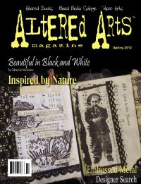Spring 2012 issue - Altered Arts online  Favorite Techniques and Quick Fixes by Myra Anson-Nicholas:  Room Transformers; Inspired by Nature by Kathleen Green:  Creating Colour Schemes From the Great Outdoors; Beautiful in Black and White by MaryJo McGraw:  Beyond the Zen - All Tangled up; & More!  http://alteredarts.3dcartstores.com/Spring-2012-issue--Altered-Arts-online_p_15.html#