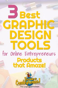 Entrepreneurs need these design tools to succeed in their online business. These three products will improve your visual marketing without leaving you feeling overwhelmed and confused. #graphicdesigntools #onlineentrepreneurs #visualmarketing #digitalmarketing #graphicdesignsoftware #digitaldesign Small Business Marketing, Business Tips, Online Business, Content Marketing, Media Marketing, Digital Marketing, Online Entrepreneur, Business Entrepreneur, Strategic Marketing Plan