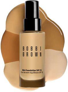 Bobbi Brown Skin Foundation - It's the best! How To Choose Foundation, Foundation Tips, Perfect Foundation, Liquid Foundation, Bobbi Brown Skin Foundation, Royal Beauty, Olive Skin, Beauty Secrets, Beauty Products