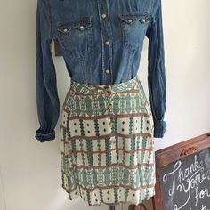 L.A. Hearts Skirt Can be worn as a high waist skirt or regular. Features elastic in back waist will allows starch & comfort. Buttons are going down the front of the shirt. Super light and flowy. New & never worn. L.A. Hearts Skirts