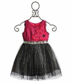 Le Pink Stella Rose Toddler Party Dress
