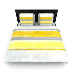 KESS InHouse Lemon by CarolLynn Tice Featherweight Duvet Cover Size: