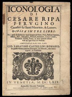 #Iconología de Cesare Ripa.   Descarga gratis en PDF. Uno de los manuales de…