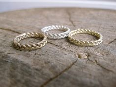 This braided ring is a great easy to wear, everyday ring.