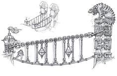World of Warcraft: Mists of Pandaria Art & Pictures White Tiger Bridge