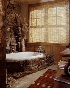 48 Inspiring Ideas For Rustic Bathroom Design > Fieltro.Net inspiring ideas for rustic bathroom design 24 Related Rustic Bathroom Designs, Rustic Bathrooms, Dream Bathrooms, Bathroom Ideas, Bathtub Ideas, Rustic Bathtubs, Primitive Bathrooms, Cozy Bathroom, Bathroom Colors