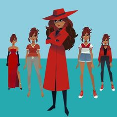Netflix really is stepping up there game with there original series' . The last slide is the girl from the dragon prince but I haven't… Cartoon Tv, Cartoon Shows, Cartoon Characters, Carmen Sandiego, San Diego, Netflix, Character Art, Character Design, Gina Rodriguez