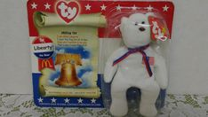 2000 McDonald TY Libearty The Bear in package #Ty