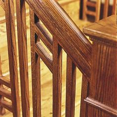 Best Custom Craftsman Mahogany Handrail Square Balusters And 400 x 300