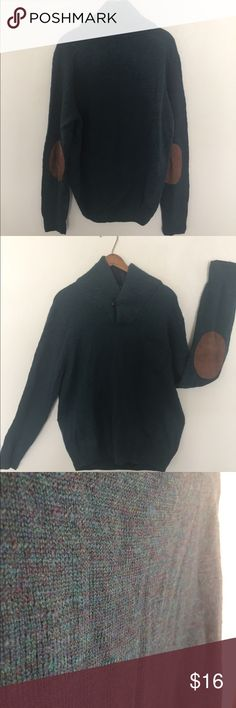 J. Crew merino wool sweater with patched sleeves This is merino wool (authentic). Very warm as well as light. Leather patched elbows! Can be worn buttoned or unbuttoned for a wide neck. Long and would be great with leggings! Also has a small accent pocket on front. J. Crew Sweaters