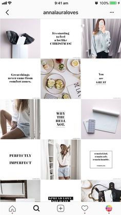 This is what I want to have my layout like -the quotes and then images/memes. Brand is a lot more fun though Instagram Design, Layout Do Instagram, Photo Pour Instagram, Insta Layout, Instagram Grid, Story Instagram, Instagram Feed Planner, Instagram Feed Ideas Posts, Free Instagram