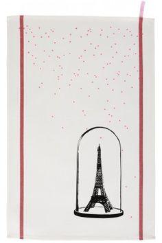 Torchon Eiffel Noir