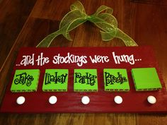 Personalized Christmas Stocking Hanger by YouMeandThree on Etsy, $30.00
