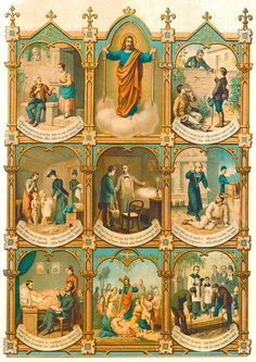 Septem Opera Misericordiae Corporalia To feed the hungry To give drink to the thirsty To clothe the naked To shelter the homeless To visit the sick To visit the imprisoned To bury the dead