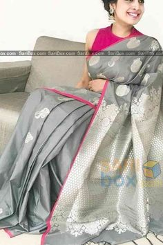 d88383ed53212 Ethnic Grey Colored Soft Silk Festive Wear Saree - CD321. Sushmitha · Blouse  designs