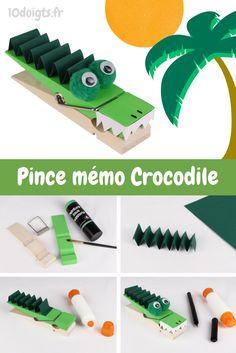 On a transformé une pince à linge géante en un joli crocodile et on a adoré ! Une super activité pour créer un mémo original et ne plus rien oublier :)