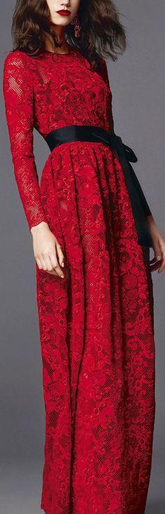 ♔Dolce & Gabbana.2015♔ - Red details