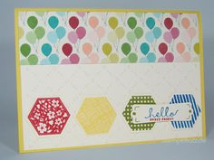 Geburtstagskarte mit Six-Sided Sampler Stempelset von Stampin' Up! / Birthday Card With Six-Sided Sampler Stamp Set by Stampin' Up!