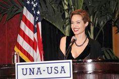 UNHCR Headquarters - Goodwill Ambassador Angelina Jolie accepts the Global Humanitarian Award