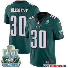 vapor untouchable player limited jersey. mens nike eagles 30 corey clement midnight green team color super bowl lii champions stitched