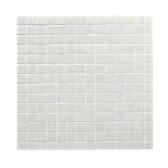 Mosaïque sol/mur en pâte de verre 2x2, blanc, 32.7x32.7cm | Leroy Merlin Good House, Leroy Merlin, Tile Floor, Mosaic, It Is Finished, Flooring, Texture, No Name, Bathroom