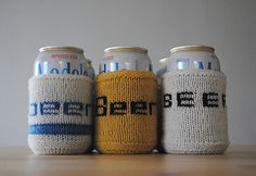 Generic Double-Knit Can Cozy by Clover Linné