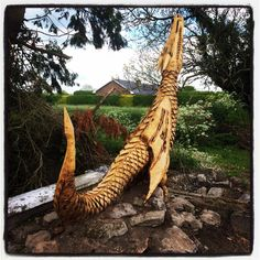 A wood carver in my area made this from a fallen tree after a huge storm.... - Imgur