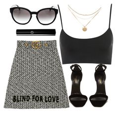 """""""Blind For Love"""" by smartbuyglasses-uk ❤ liked on Polyvore featuring Gucci, Prada, Yves Saint Laurent and black"""