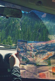 Traveling through the mountains.