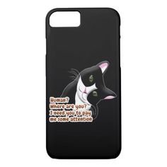 Human Where are you Cat iPhone 8/7 Case - cat cats kitten kitty pet love pussy