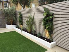 Simply Fences - Fast, Expert Fencing Installation in London Back Garden Design, Modern Garden Design, Backyard Garden Design, Terrace Garden, Fence Design, Patio Design, Landscape Design, Fence Landscaping, Backyard Fences