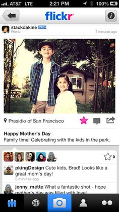 Flickr Redesigns iPhone App, Adds Instagram-Like Filters Unique Apps, Free Iphone, Iphone App, Ios Update, Mom Day, Best Apps, Photo Archive, Happy Mothers Day, Cute Kids