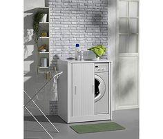 Armario de lavander a para lavadora fabricado en resina con puerta de persiana de abertura - Armario para lavadora ...