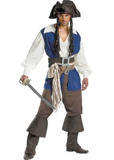 The classic and iconic Jack Sparrow fancy dress costume had to take its rightful place on our top 10 list of mens pirate costumes.