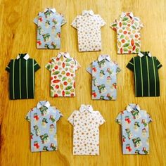 10 Card Making Toppers For Men Origami Shirts Dear Santa Christmas Papers 150GSM