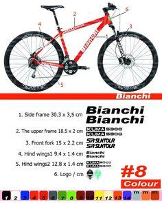 cycle vélo push bike frame stickers autocollants kit 4x marin VTT