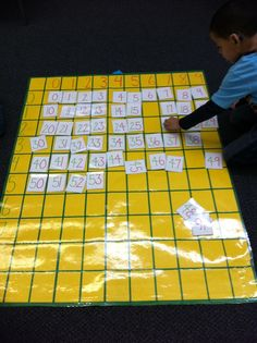 Great Number Sense activity! Quick and easy center idea...would also be cute as a 100's chart!