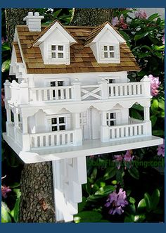 Kiln dried wood, non-toxic paint, cedar shingles.  Functional for your birds and garden, or use it inside for decoration.