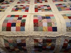 my rag quilt I made from leftover materials