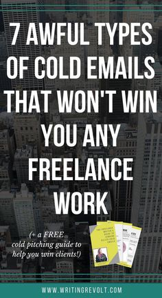 Don't make these cold emailing mistakes. Instead, follow the tips in this post to win freelance writing work with cold emails! Check it out. :) | make money writing online | freelance writer | freelancing |