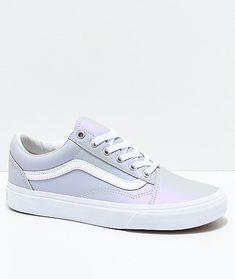 d57d20ec1fd8fb Vans Old Skool Muted Metallic Grey  amp  White Skate Shoes