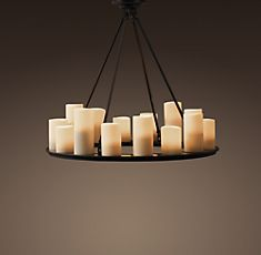 Pillar candle rectangular chandelier small from restoration hardware restoration hardware pillar candle round chandelier aloadofball Choice Image