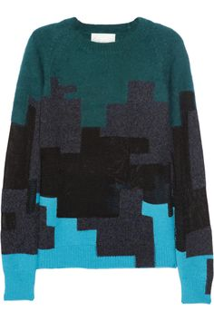 3.1 Phillip Lim | Brindle patchwork knitted sweater