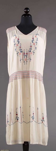 Dress, cotton, French, 1920s